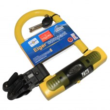 Antivol U SQUIRE Eiger compact A cle Jaune 15,6 mm Avec support 83 mm 145 mm