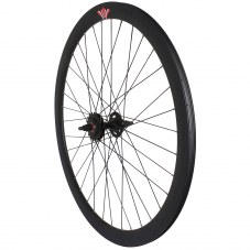 Roue Singlespeed Route/fixie Noir 700 Double filetage/jante 43 mm