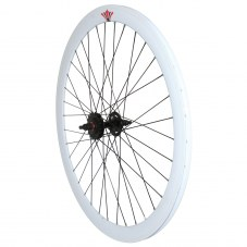 Roue Singlespeed Route/fixie Blanc 700 Double filetage/jante 43 mm