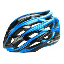 Casque GES Ultralite Double in-mold Route S/M 52/58 Adulte H/F Bleu/noir Fermeture 3 positions 210 g