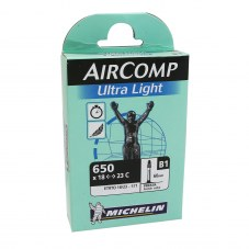 Chambre à air MICHELIN Aircomp ultralight Valve 60 mm Compétition Route 650x18-23 Presta B1 Longueur valve 60 mm 72 g 9
