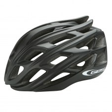 Casque GES Ultralite Double in-mold Route S/M 52/58 Adulte H/F Noir Fermeture 3 positions 210 g