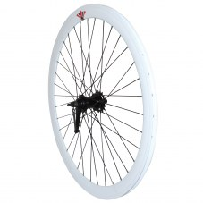 Roue Singlespeed Retropedalage Route/fixie Blanc 700 Double filetage/jante 43 mm