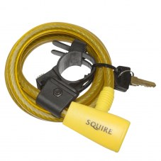 Antivol Spiral SQUIRE A cle Jaune 10 mm Avec support 1,80 m