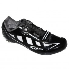 Chaussure GES Speed Compatible LOOK/SHIMANO/time Route 39 Adulte H/F Noir/blanc brillant Serrage boa