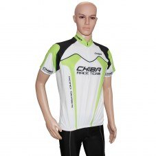 Maillot CHIBA Team Maillots adultes vélo XXL 46 Adulte H/F Vert/blanc