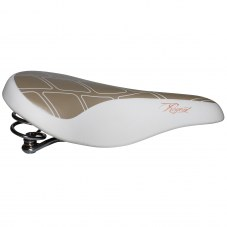 Selle DDK Regent A ressort City/VTC Blanc/or Detente 260 mm 205 mm
