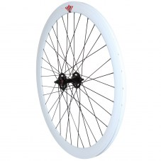 Roue Singlespeed Avant Route/fixie Blanc 700 Jante 43 mm