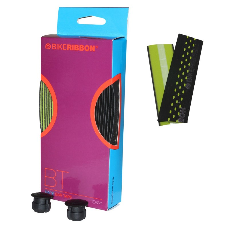 Guidoline: Ruban de guidon BIKERIBBON Drop Confort Route Noir/vert