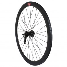 Roue Singlespeed Retropedalage Route/fixie Noir 700 Double filetage/jante 43 mm