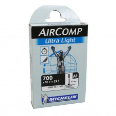 Chambre à air MICHELIN Aircomp ultralight Valve 52 mm Compétition Route 700x20-23 Presta A1 Longueur valve 52 mm 77 g 7