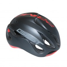 Casque GIST Primo Full in-mold Route S/M 52/58 Adulte H/F Noir mat/rouge 250 g