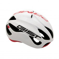 Casque GIST Primo Full in-mold Route S/M 52/58 Adulte H/F Blanc/rouge 250 g