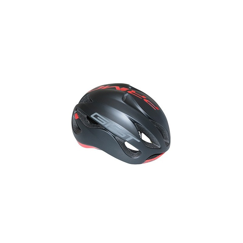 Casque GIST Primo Full in-mold Route L/XL 56/62 Adulte H/F Noir mat/rouge 250 g