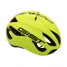 Casque GIST Primo Full in-mold Route S/M 52/58 Adulte H/F Jaune fluo/noir 250 g