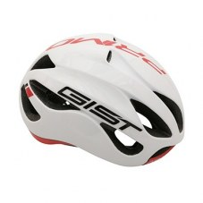 Casque GIST Primo Full in-mold Route L/XL 56/62 Adulte H/F Blanc/rouge 250 g