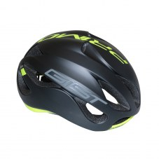Casque GIST Primo Full in-mold Route S/M 52/58 Adulte H/F Noir mat/jaune fluo 250 g