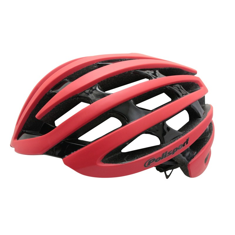 Casque POLISPORT Light road In-mold Route L/XL 58/61 Adulte H/F Rouge mat