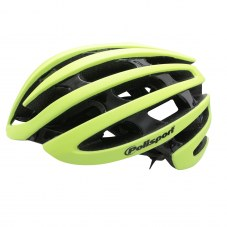 Casque POLISPORT Light road In-mold Route L/XL 58/61 Adulte H/F Jaune fluo mat