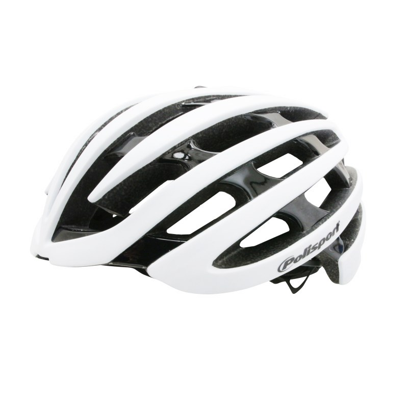 Casque POLISPORT Light road In-mold Route S/M 54/58 Adulte H/F Blanc mat