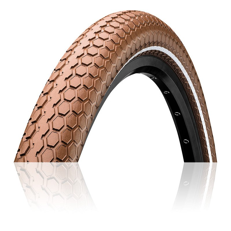 Pneu CONTINENTAL Retro Ride City/VTC TT TR 50-622 Marron 28x2,0 Urbain/extra urbain 28x2,0 Puncture Pro Tection