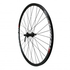Roue route 700 pulse avant disc centerlock moyeu bille noir axe 9-100mm