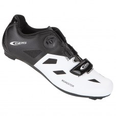 """Chaussure GES Roadster Compatible LOOK/SHIMANO/time Route 44 Noir/blanc Serrage boa/""""scratch"""""""