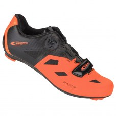 "Chaussure GES Roadster Compatible LOOK/SHIMANO/time Route 42 Orange/noir Serrage boa/""scratch"""