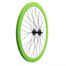 Diver: Roue Singlespeed 43 Route/fixie Vert Jante 43 mm