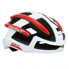 Casque GIST Volo Full in-mold Route S/M 52/56 Adulte H/F Blanc/rouge Boudin de couvre-jambes 210 g 1