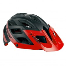 Casque GIST ESK In-mold VTT/VTC S/M 52/58 Adulte H/F Noir/rouge 250grs