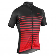 Maillot GIST Flow Manches courtes - zip total M Adulte H/F Rouge/noir