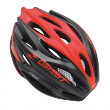 Diver: Casque GIST Ares Full in-mold Route S/M 52/58 Adulte H/F Noir mat rouge